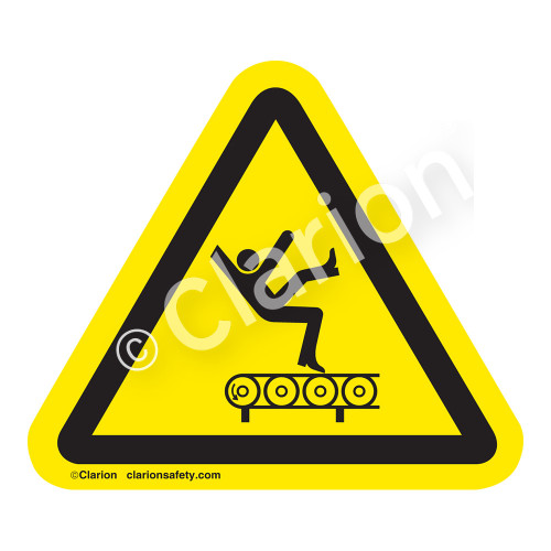 Fall Hazard From Conveyor Label (IS5016-)