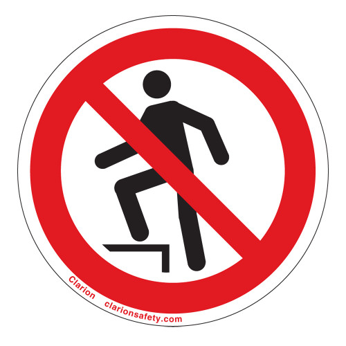 Do Not Step Label (IS5080-)