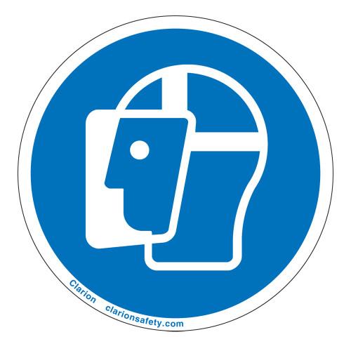 Wear Face Shield Label (IS6037-)