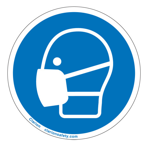 Wear Dust Mask Label (IS6049-)