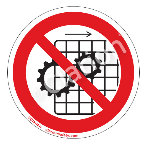 Do Not Operate With Guards Removed Label (IS6061-)