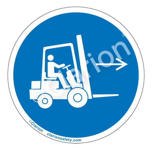 Forklift Point Right Label (IS6072-)