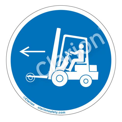 Forklift Point Left Label (IS6073-)