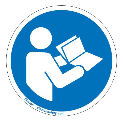 Consult Operators Manual Label (IS6126-)