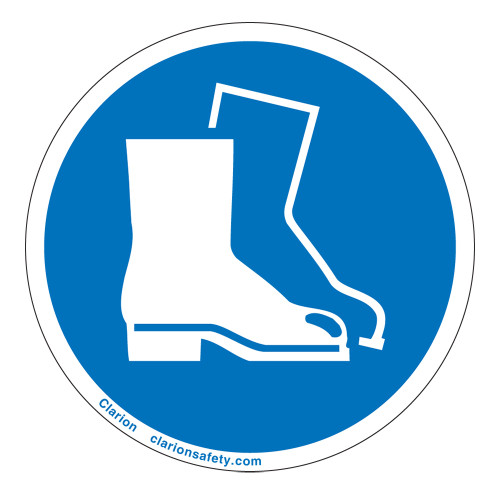 Wear Safety Boots Label (IS6134-)