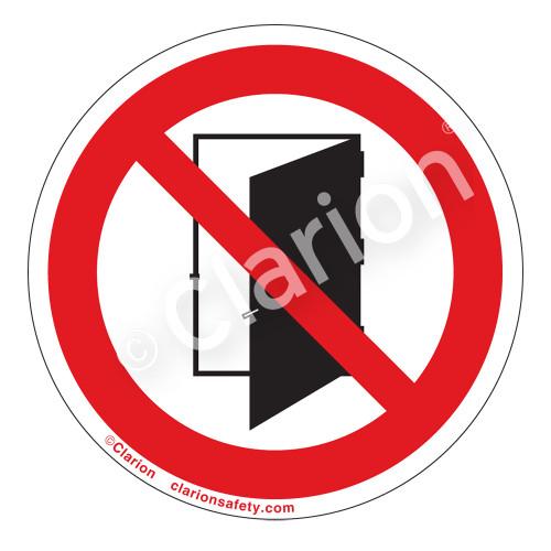 Do Not Open Door Label (IS6141-)