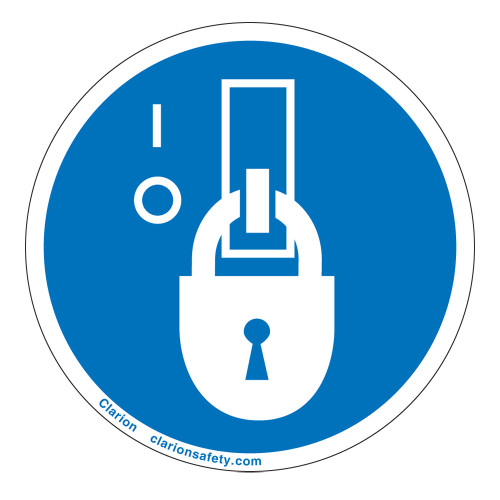 Lock Out In De-Energized State Label (IS6143-)