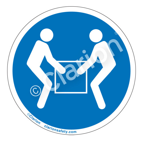 Use Two Person Lift Label (IS6147-)