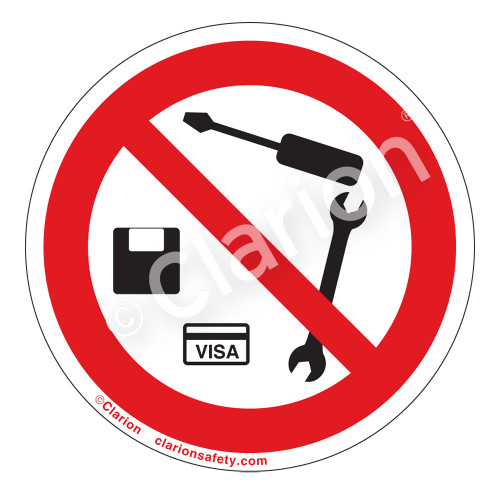 No Metal Objects or Magnetic Media Label (IS6198-)