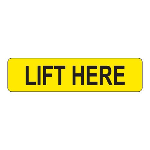 Lift Here Label (LIFT-)