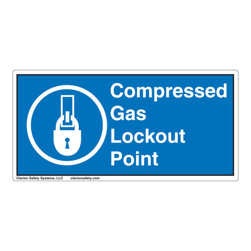 Compressed Gas Lockout Point Label (LP002-)