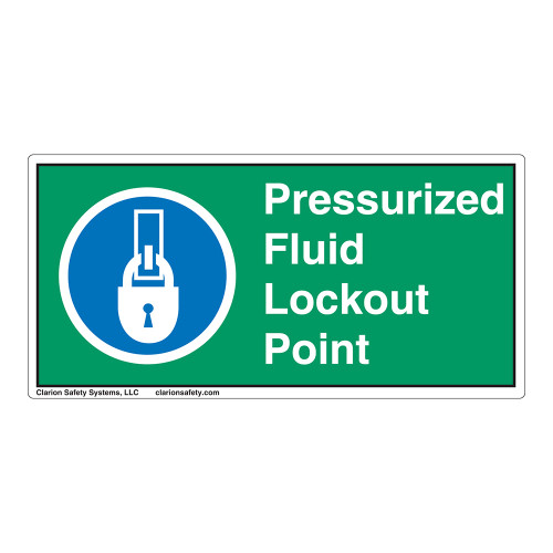 Pressurized Fluid Lockout Point Label (LP003-)