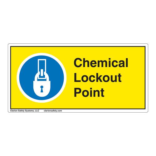 Chemical Lockout Point Label (LP004-)