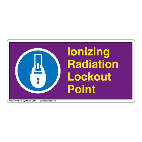 Ionizing Radiation Lockout Point Label (LP007-)