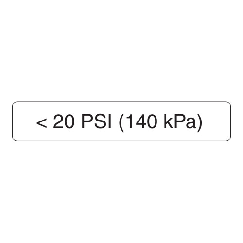 <20 PSI Label (140 Kpa)