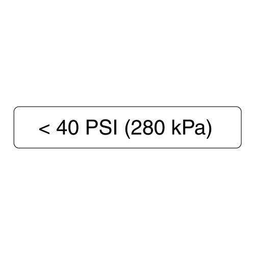 <40 PSI Label (280 Kpa)