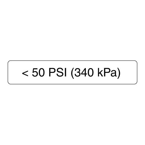 <50 PSI Label (340 Kpa)