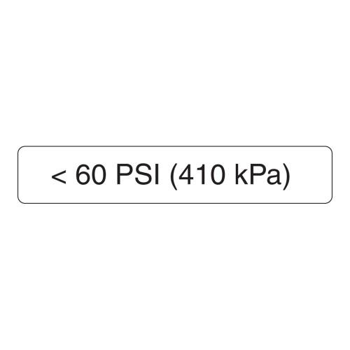 <60 PSI Label (410 Kpa)
