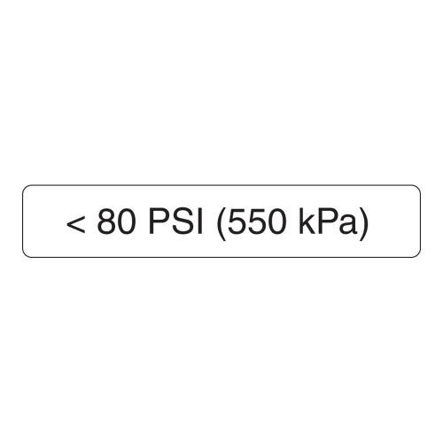 <80 Psi Label (550 Kpa)