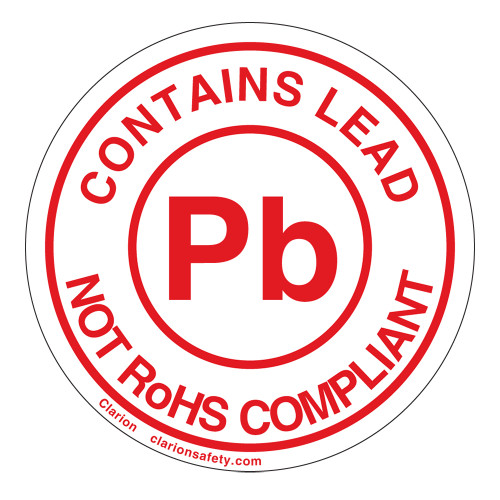 RoHS/Contains Lead Label (ROHSEU-28)