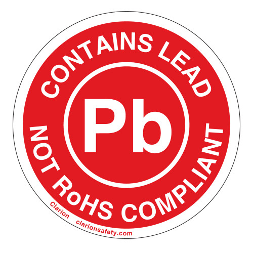 RoHS/Contains Lead Label (ROHSEU-29)