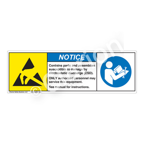 Notice/Contains Parts And Assemblies Label (SL1001-H)