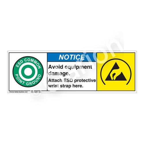 Notice/Avoid Equipment Damage Label (SL1002-H)