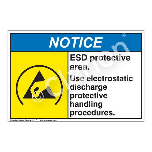 Notice/ESD Protective Area Label (SL1003-HP)