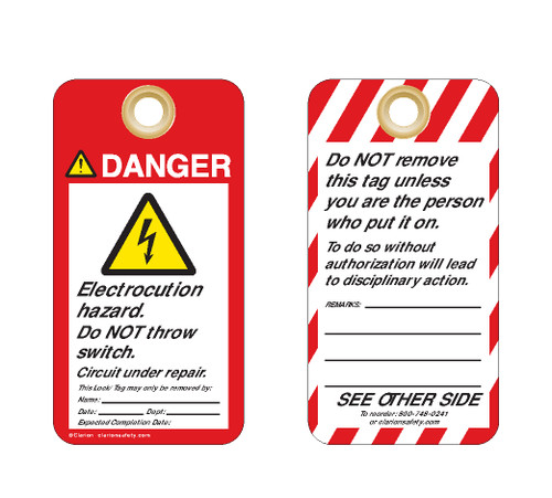 Danger/Electrocution Hazard Tag (ST1016a-1)