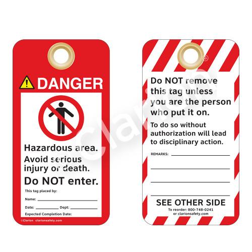 Danger/Hazardous Area Tag (ST1019a-1)