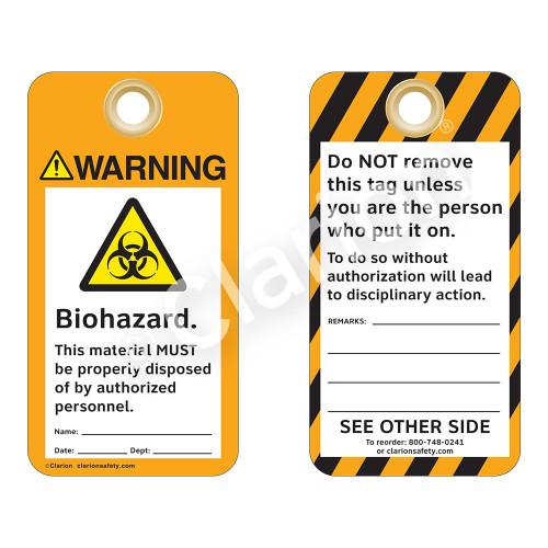 Warning/Biohazard Tag (ST2011a-1)