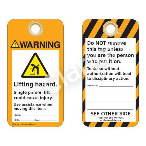 Warning/Lifting Hazard Tag (ST2012a-1)