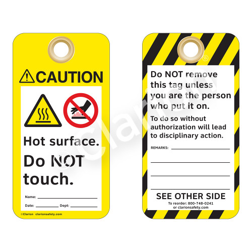 Caution/Hot Surface Tag (ST2014a-1)