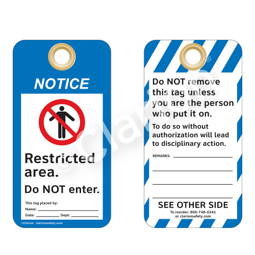 Notice/Restricted Area Tag (ST2016a-1)
