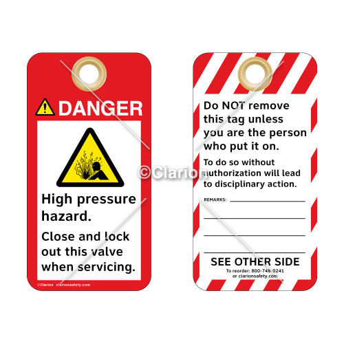 Danger/High Pressure Hazard Tag (ST3007a-1)