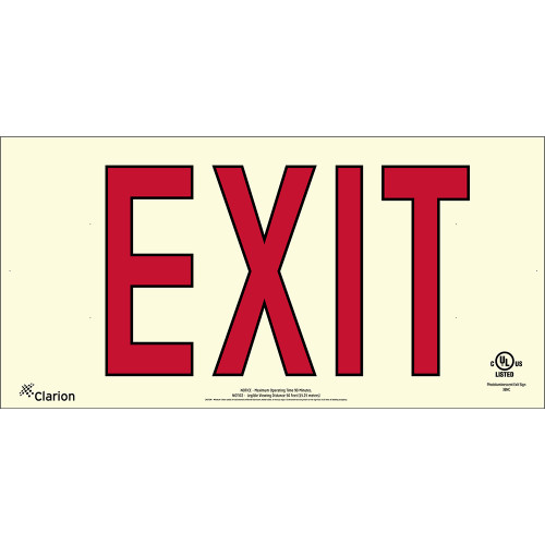 Series 400 UL 924 PVC Exit Sign - Red Letters (UL401)