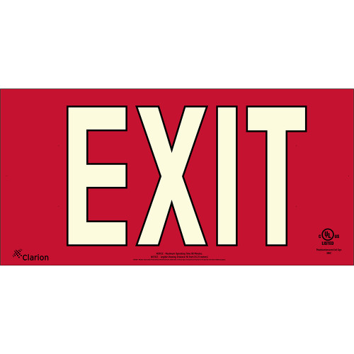 Series 400 UL 924 PVC Exit Sign - Red Background (UL421)