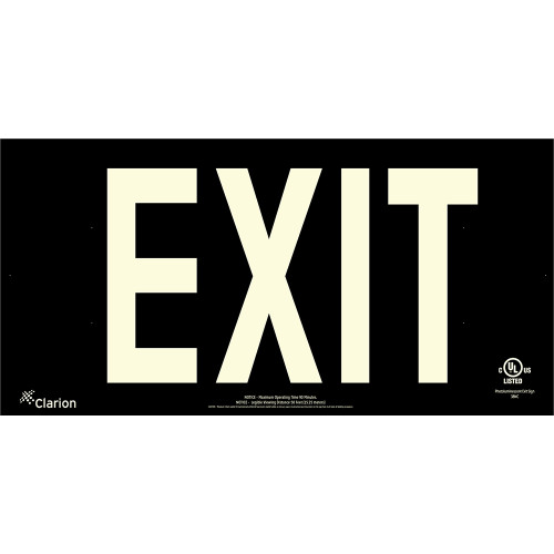 Series 400 UL 924 PVC Exit Sign - Black Background (UL451)