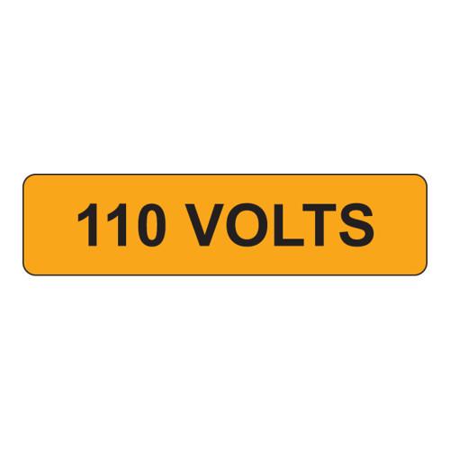 110 Volts Label (V110-)