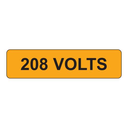 208 Volts Label (V208-)