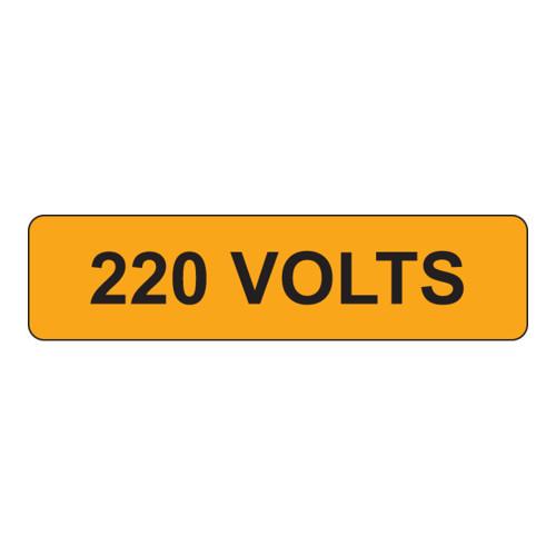 220 Volts Label (V220-)