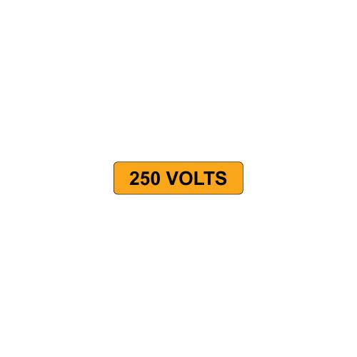250 Volts Label (V250-)