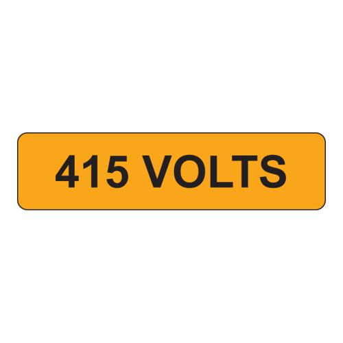 415 VOLTS Label (V415-)