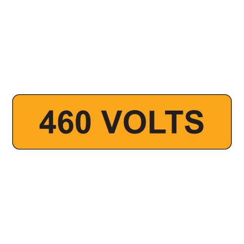 460 VOLTS Label (V460-)