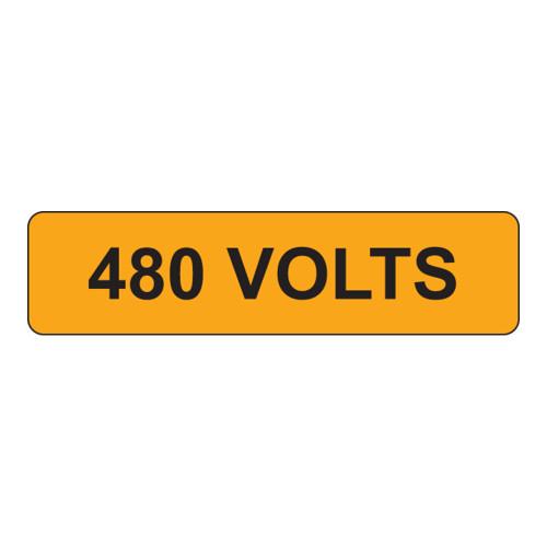 480 Volts Label (V480-)