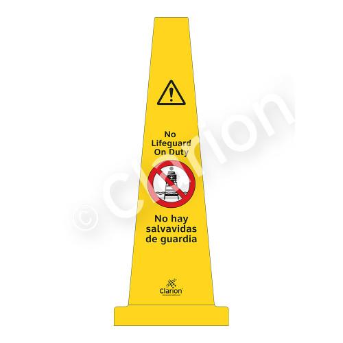 No Lifeguard on Duty Sign (WSS1501-33e-esm) )