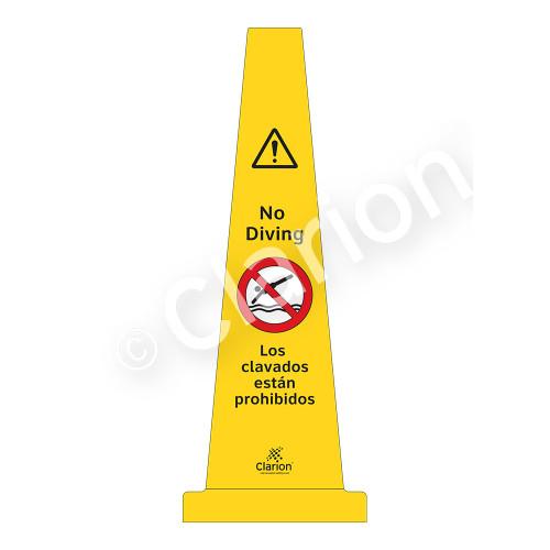No Diving Sign (WSS1503-33e-esm) )