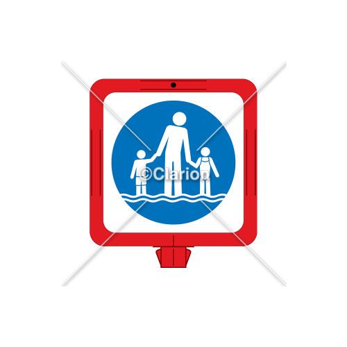 Watch Your Children Sign (WSS1602-34f) )