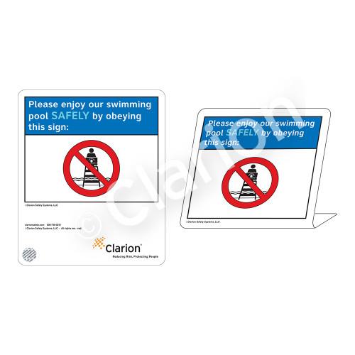 Placard/No Lifeguard on Duty Sign (WSS1701-35g-e) )