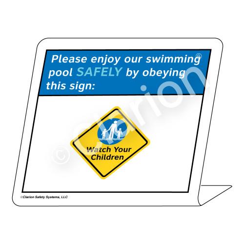 Placard/Watch Your Children Sign (WSS1702-35g-e) )